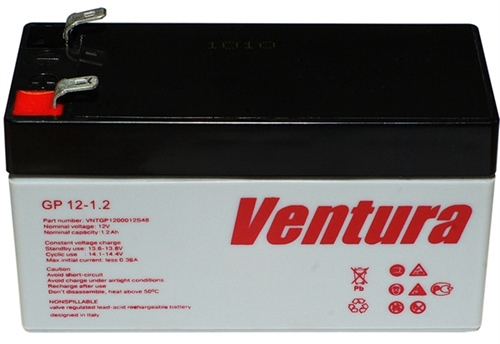 Изображение Аккумулятор GP Ventura 12V-1,2Ач.