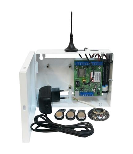 """Изображение S400-2GSM-BK12-W-li Kit """"Нано"""" (со встроенным li-ion АКБ 3,7В 2800мАч, считывателем и ключами ТМ,  цвет белый)"""