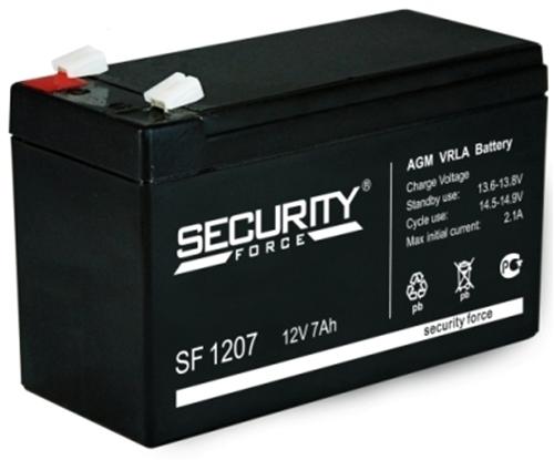 Изображение Аккумулятор Security Force SF 1207 12V - 7Ач.