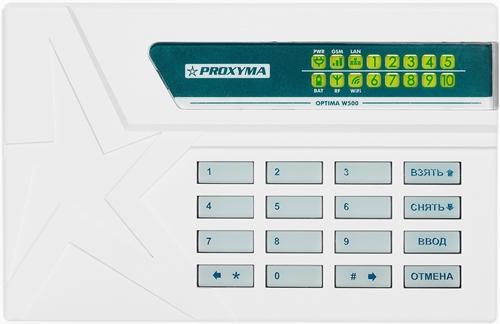 """Изображение W500BL Optima Объектовый прибор в корпусе клавиатуры. (со встроенным li-ion АКБ 3,7В 2500мА/ч) Поддержка работы по каналу  Ethernet встроенный радиоканал Бриз (ООО Компания """"Проксима"""") и Ладога-РК (ЗАО """"Риэлта"""")"""